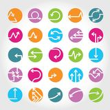 Arrow buttons. Set of 25 arrow buttons Royalty Free Stock Image