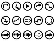 Arrow buttons set Stock Photography