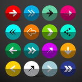 Arrow Buttons Set. Stock Images