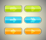 Arrow buttons set. Vector illustration Stock Image