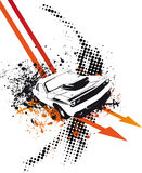 Arrow Car. Orange Grunge Arrow Car Illustration Stock Photos