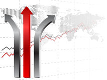 Arrow card. Vector of arrow business background Stock Photography