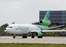Arrow cargo DC-10 heavy cargo jet Royalty Free Stock Photos