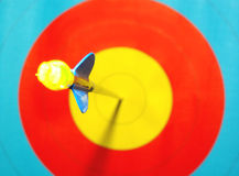 Arrow in center target Stock Images