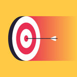 Arrow in the center of target Royalty Free Stock Photo