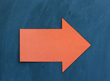 Up Down Arrow on Chalkboard Stock Image
