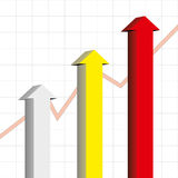 Arrow chart Stock Image