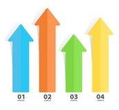 Arrow Chart Diagram Stock Images
