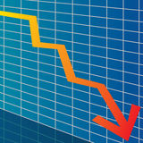Arrow chart down Stock Photo