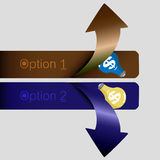 Arrow choice. EPS 10 VECTOR Royalty Free Stock Photo
