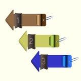 Arrow choice option. EPS 10 Vector Royalty Free Stock Image
