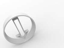 Arrow circle. White arrow in the circle 3d Stock Image