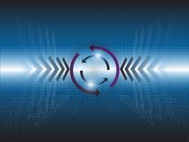 Arrow Circle Abstract Background. EPS 10 Vector Royalty Free Illustration