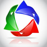 Arrow circle. Eco green and red Royalty Free Stock Images