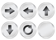 Arrow circle icon Stock Photos