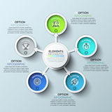 Arrow circle infographics template. Vector illustration. Can be used for workflow layout, diagram, number options, web design and timeline Stock Image