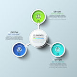 Arrow circle infographics template. Vector illustration. Can be used for workflow layout, diagram, number options, web design and timeline Royalty Free Stock Photo