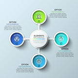 Arrow circle infographics template. Vector illustration. Can be used for workflow layout, diagram, number options, web design and timeline Royalty Free Stock Photos