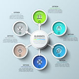 Arrow circle infographics template. Vector illustration. Can be used for workflow layout, diagram, number options, web design and timeline Stock Photography
