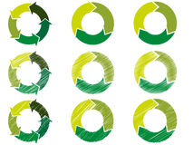 Arrow circle in sustainable color Stock Image
