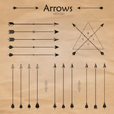 Arrow Clip art Set in Vector on White Background Stock Photos