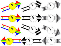 Arrow clock five minutes to twelve Stock Images