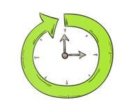 Arrow and clock Stock Photos
