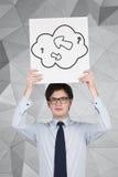 Arrow in cloud Stock Image