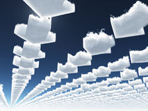 Arrow clouds Royalty Free Stock Photo