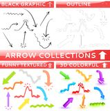 Arrow collection of four different set Royalty Free Stock Photography