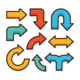 Arrow sign icon set Royalty Free Stock Image