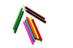 Arrow color pencil Royalty Free Stock Photos