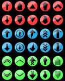 Arrow color set up and down, upload download Royalty Free Stock Images