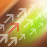Arrow  Colorful elegant on abstract background Royalty Free Stock Image