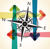 Arrow and compass background Royalty Free Stock Photography
