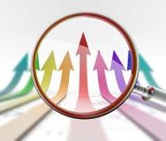 Arrow competetion Royalty Free Stock Photos