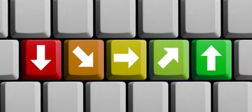 Arrow concept on computer keyboard royalty free stock photography