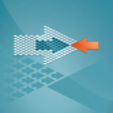 Arrow concept Stock Photos