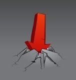 Arrow in Cracked Stone Set 2 Stock Image