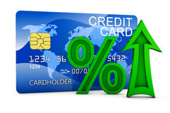 Arrow and credit card Stock Images