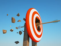 Arrow crush the target Stock Photography