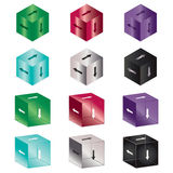 Arrow cubes Stock Photo