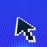 Arrow cursor. (hires 3D image Royalty Free Stock Images