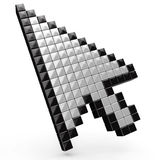 Arrow cursor  over white Royalty Free Stock Photo