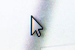 Arrow cursor. Pixel arrow cursor on a screen Royalty Free Stock Images