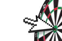Arrow Cursor on Target Royalty Free Stock Photography