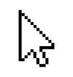 Arrow cursor Stock Image