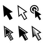 Arrow Cursors Symbol Icons Set. Vector Royalty Free Stock Image