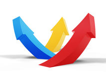 Arrow curve up Stock Photos