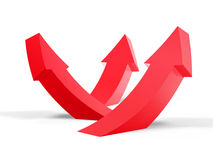 Arrow curve up Royalty Free Stock Image
